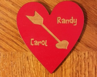 Engraved personalized Valentine