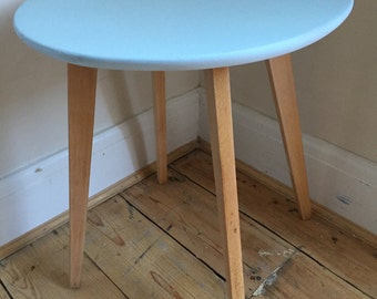 Upcycled spray-painted retro side table - UK delivery available