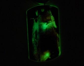 "Glow ""Surfer"" Keychain Psychedelic handmade souvenir Glow in the dark"