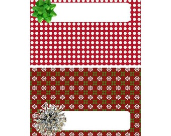 Printable Christmas Candy Bar Wrapper-Printable Holiday Candy Bar Wrapper-Chocolate Bar Wrapper-Instant Download Chocolate Bar Wrapper-DIY