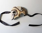 The Phantom of the Opera mask, half mask, partial face mask, masquerade style, wearable,theater mask