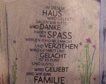 Families Schild