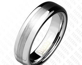 Brushed Metal Center Dome Tisten Ring