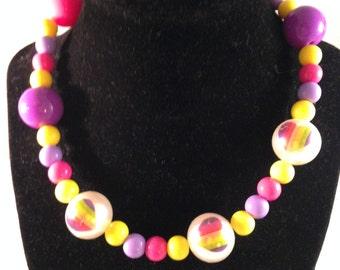 Chunky Girl Necklace,Little Girl Bubblegum Necklace,Children Necklace,Girl Chunky Necklace,Bubblegum Necklace,toddler girl necklace