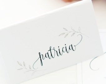 Modern Calligraphy Place Cards, Name Cards, Printable Files or Printed Cards - Your Choice, Wedding Table Stationery