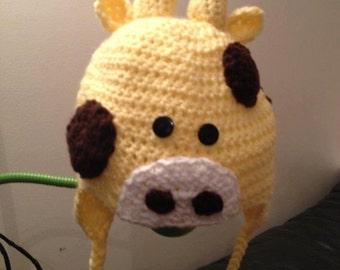 Crochet Giraffe Hat Adult