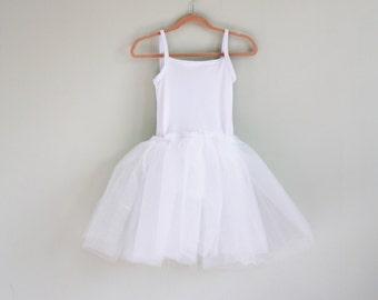 White tutu- tutu leotard- flower girl dress- flower girl tutu- ballet tutu