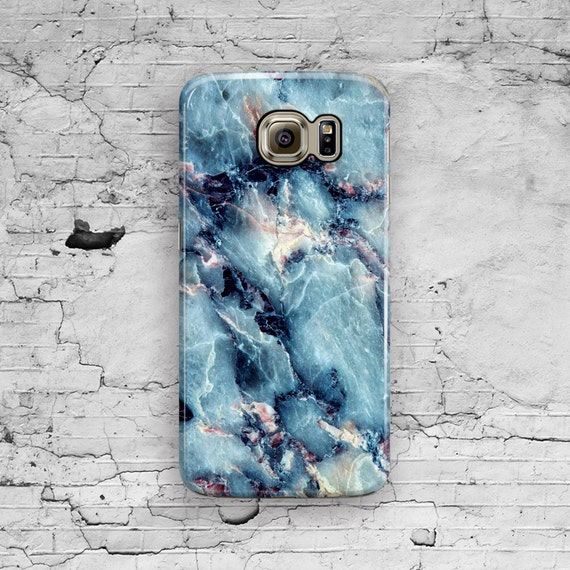 Marble Samsung Galaxy Case Blue Galaxy S6 Case Space Marble
