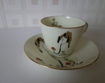 Exquisite Art Deco Royal Doulton cup and saucer