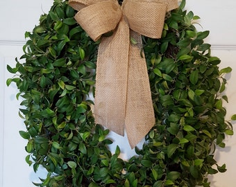 Greenery Wreath, Door Wreath, Oval Wreath, Spring Wreath, Summer Wreath, Natural Wreath, Silk Wreath
