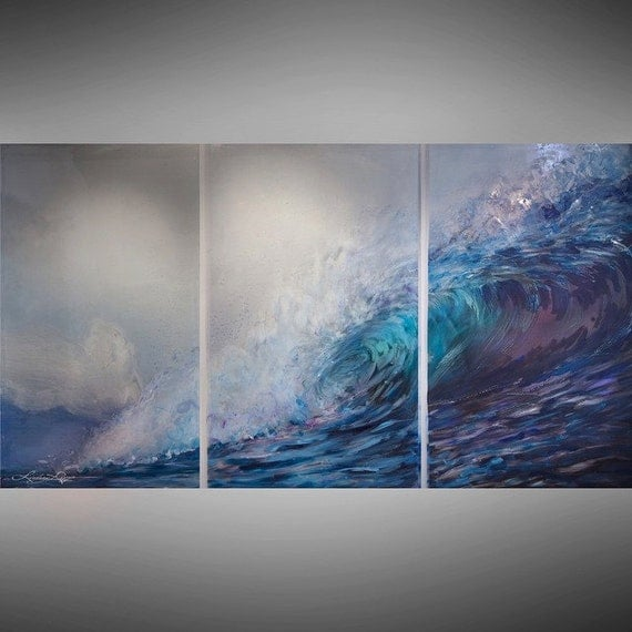 Tri-Wave ~ Original Painting