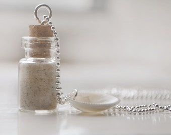 glass vial with sand inside