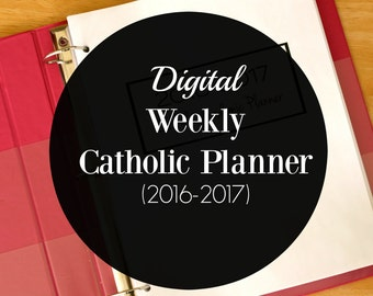 2016-2017 Catholic Academic and Liturgical Planner (Daily, Weekly, Yearly)