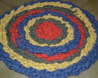 Round Crocheted Rag Rug
