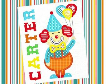 Circus Clown Machine Applique Design 1015
