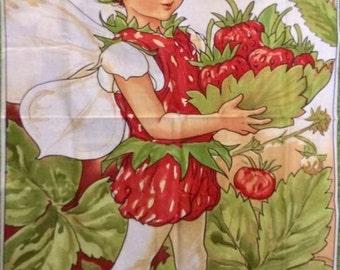 Michael Miller Strawberry Flower Fairy Panel