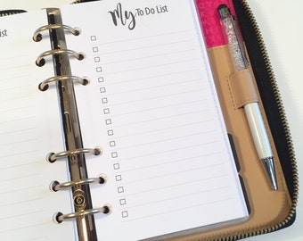 My To Do List Printed Planner Inserts