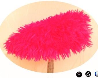 Cover for bike saddle, faux fur, fuchsia