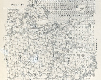 1879 Map of Palo Pinto County Texas