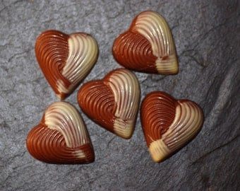 Chocolate Hearts - Wedding Favours - Wedding Hearts - Gifts for Guests - Party Favours - Chocolate Gifts - Chocolate Wedding Favours