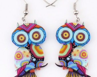 Owl Earrings Long