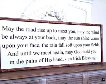 Irish Blessing Wood Sign - Painted Wood Sign - Scripture Wood Sign - Bible Verse Sign