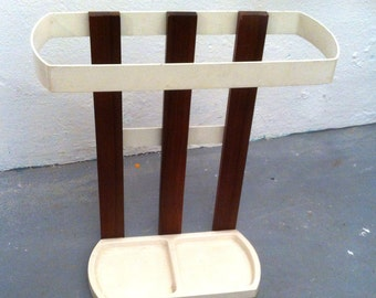 White 60s umbrella stand