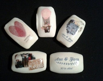 Details for wedding - personalized soaps