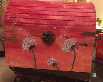 SUNSET PAINTED CHEST