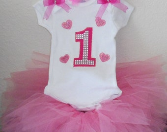 Birthday tutu outfit , girls outfit , birthday tutu set , pink outfit