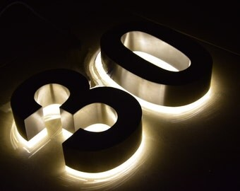 3D letters and numbers individual manufactured