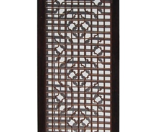 25% OFF SALE Chinese Wood Screen Panel Headboard with Geometric Floral Design vs892E