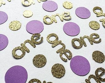 Custom Glitter Confetti • Birthday Confetti • One Confetti • Lavender Confetti • Age Confetti • Name Confetti • Baby Shower Confetti