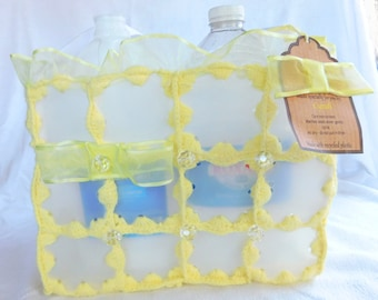 Yellow Recycled Plastic Bag Chloe Line for Shopping, Everyday Use