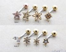 Piercing/Daith piercing/Rook piercing/Snug piercing/Helix piercing/Helix earring/Cartilage earring/Eye brow piercing/Belly button Ring