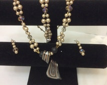 Pearl garland necklace set *SOLD*