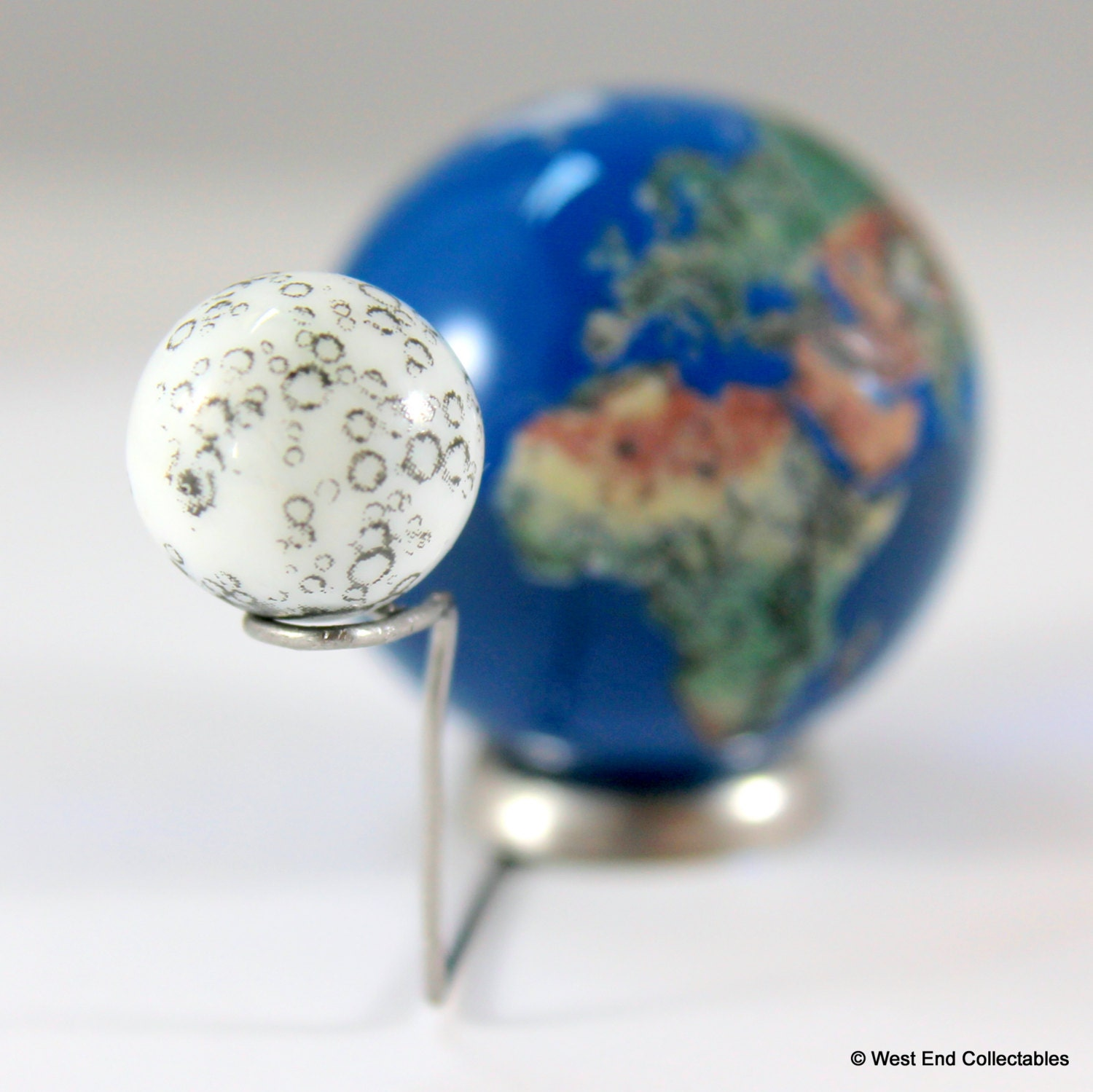 To Scale 35mm Planet Earth Globe Amp 12mm Moon Marble Model