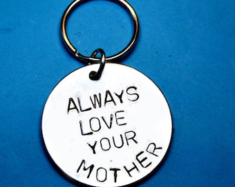 Mothers day gift, Always love your mother, Mom gift, gift for mom, UK,Personalised gift,Customised gift, Gift ideas,Handstamped, mom quote