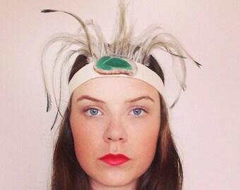 Ostrich Feather Head Dress