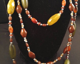 Beaded earthy necklace