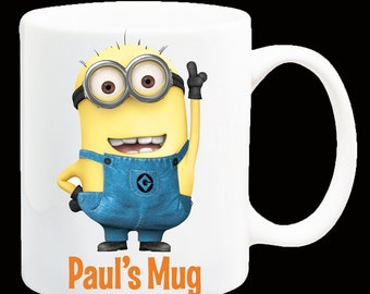 Personalised Despicable Me Minions Coffee Mug
