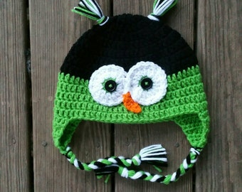 adult owl hat - ready to ship