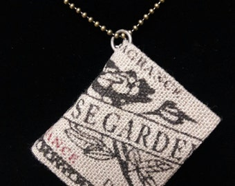 Rose Garden Mini Book Necklace