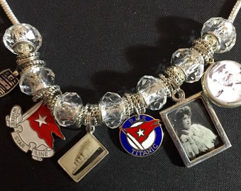 Unsinkable Titanic charm bracelet - size 7 - really cute!