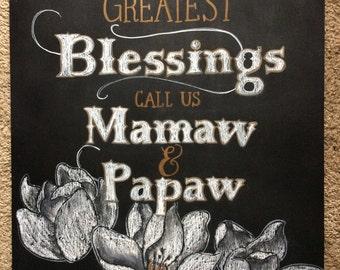 Grandparent/Parent Chalkboard Quote