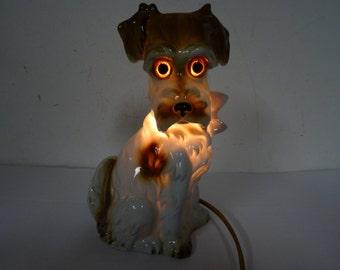 dog lamp germany 1940-50