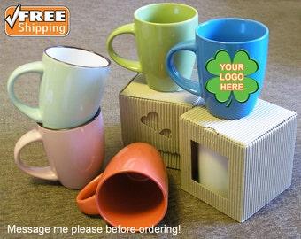 custom ceramic mug cup personalized mug cup colorful mug cup company logo personalized print custom green blue red mugs custom gifts - Colorful Mugs