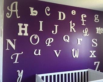 Handmade Wood Alphabet Cutouts