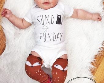Sunday Funday Bodysuit/ American Apparel/ Sunday Bodysuit/ Baby Shower