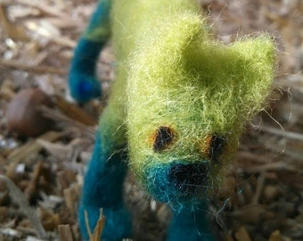 OOAK Needle Felted Posable Cat